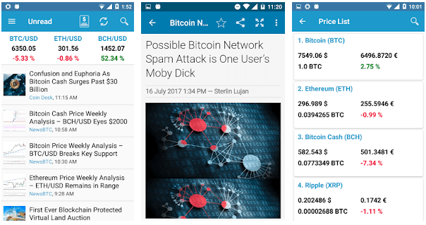 bitcoin news - Top 10 Cryptocurrency Mobile News Apps For 2018
