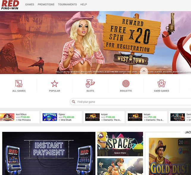red3 - RedPing.Win Review   Best Online Bitcoin Casino