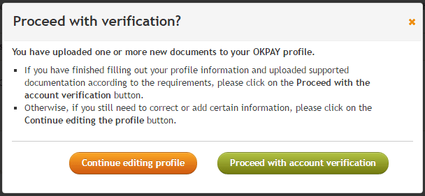 proceed with verification