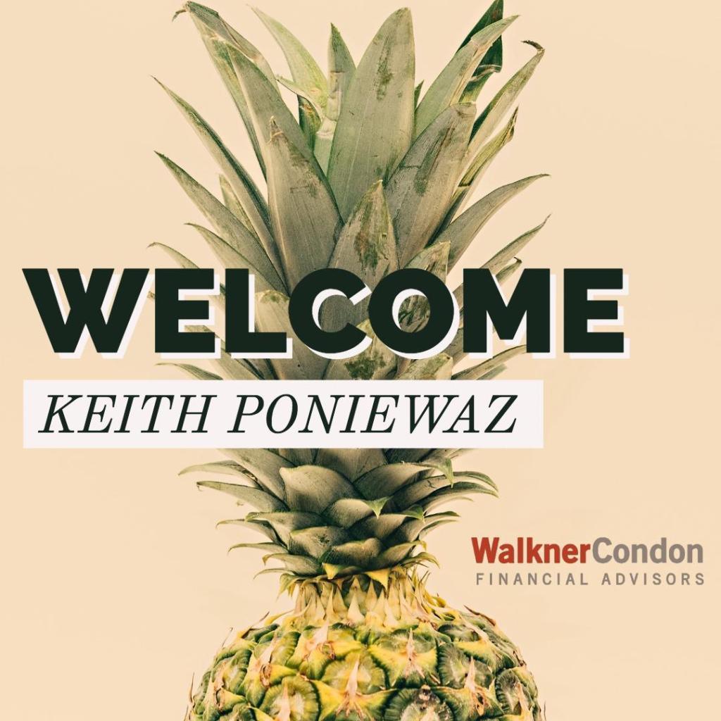 Welcome for keith poniewaz