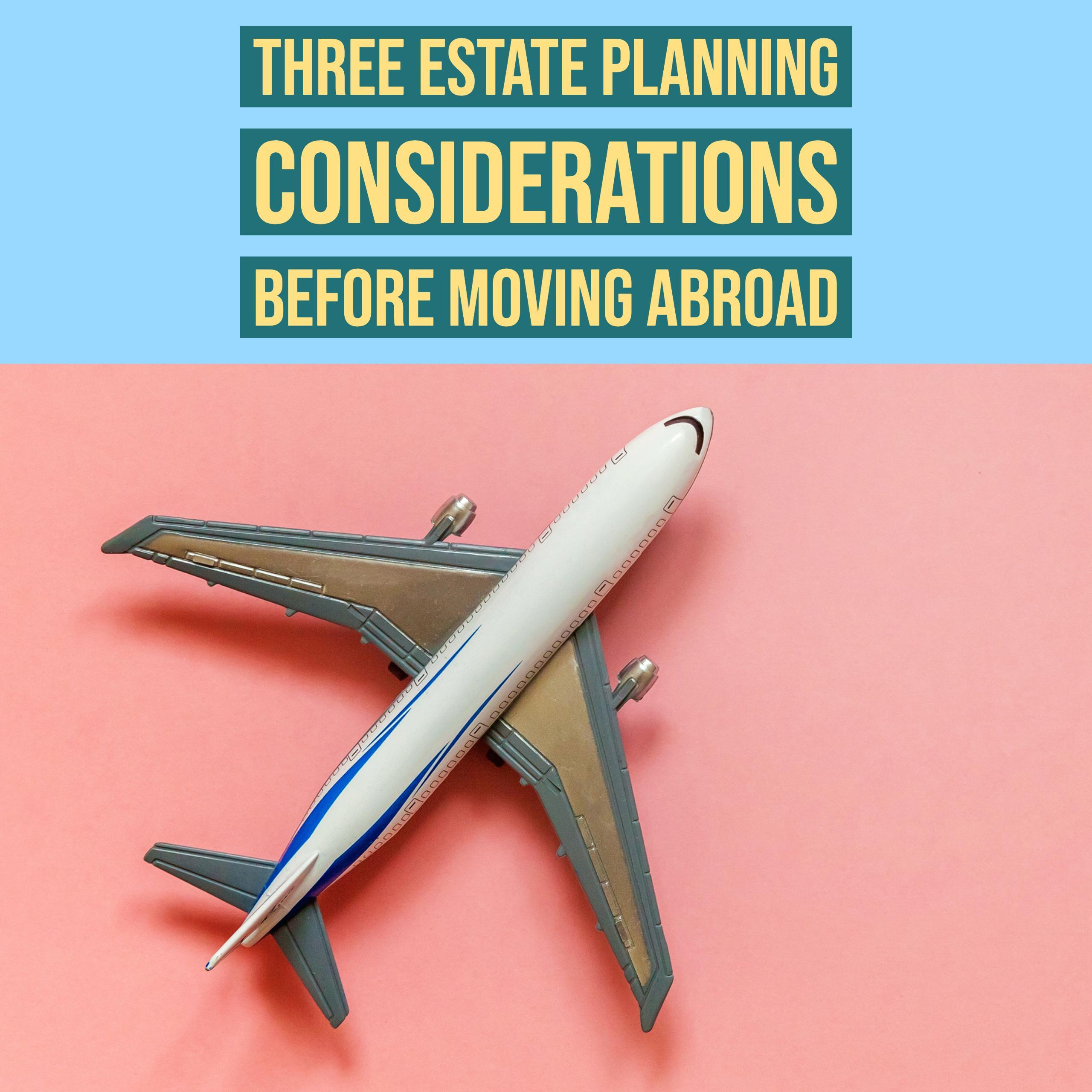 three estate planning considerations