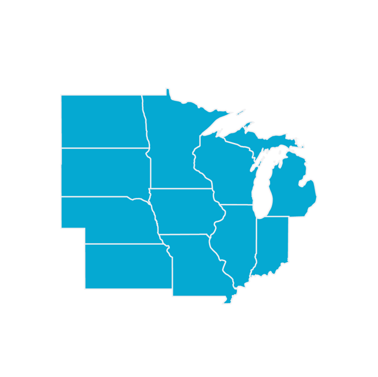 US Framing Map Region Midwest