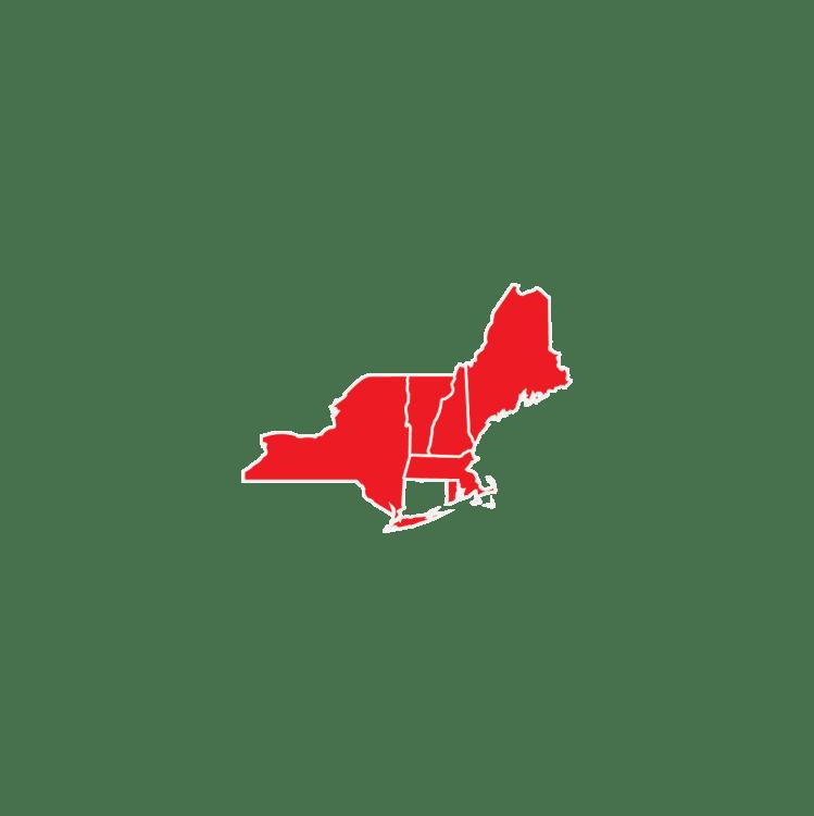 US Framing Map Regions North East