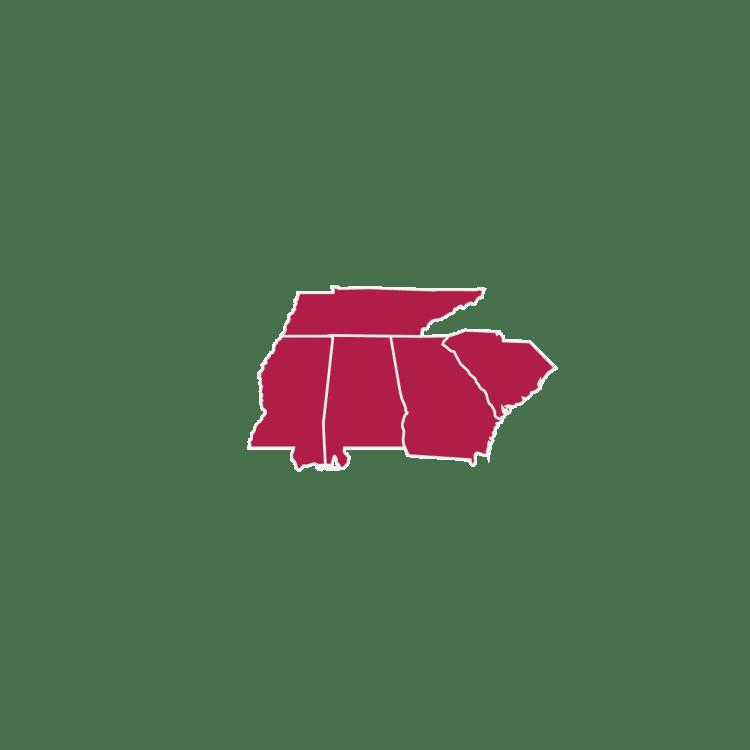 US Framing Map Regions Southeast NEW