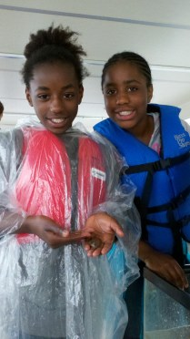 While on the education boat, concepts of water quality, aquatic food webs, and ecosystem balance become tangible as students study fish of the James RIver.
