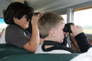 Youth viewing wildlife at Blackwater National Wildlife Refuge in Maryland.