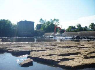 Removal of Hogansburg Hydroelectric Dam gets underway. Credit: Stephen Patch, USFWS