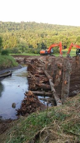 SAMKIL Site 2 Roughened Log Toe Under construction
