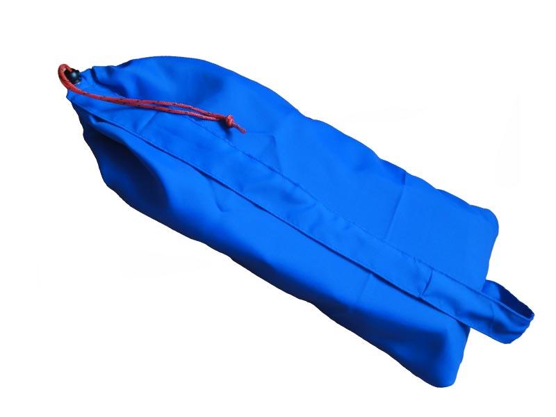 Buidel voor compact meditatiebankje – blauw