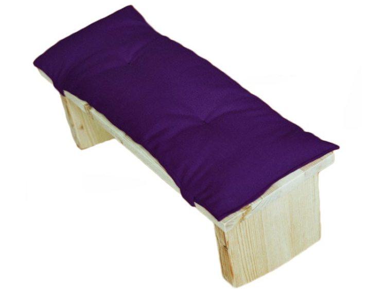 Meditatiebankje met kussentje, paars