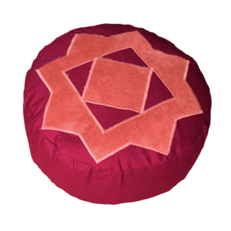 Meditatiekussen Achthoekige ster – hoes met koord – combinaties 2
