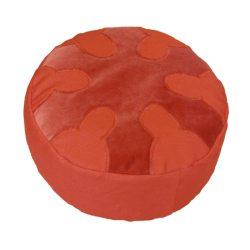 Meditatiekussen met wiel met zes spaken, terracotta op terracotta