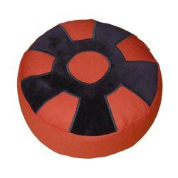 Meditatiekussen met wiel met middencirkel, zwart op terracotta