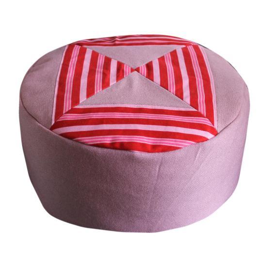 Rood met roze strepen en oudroze zijkant