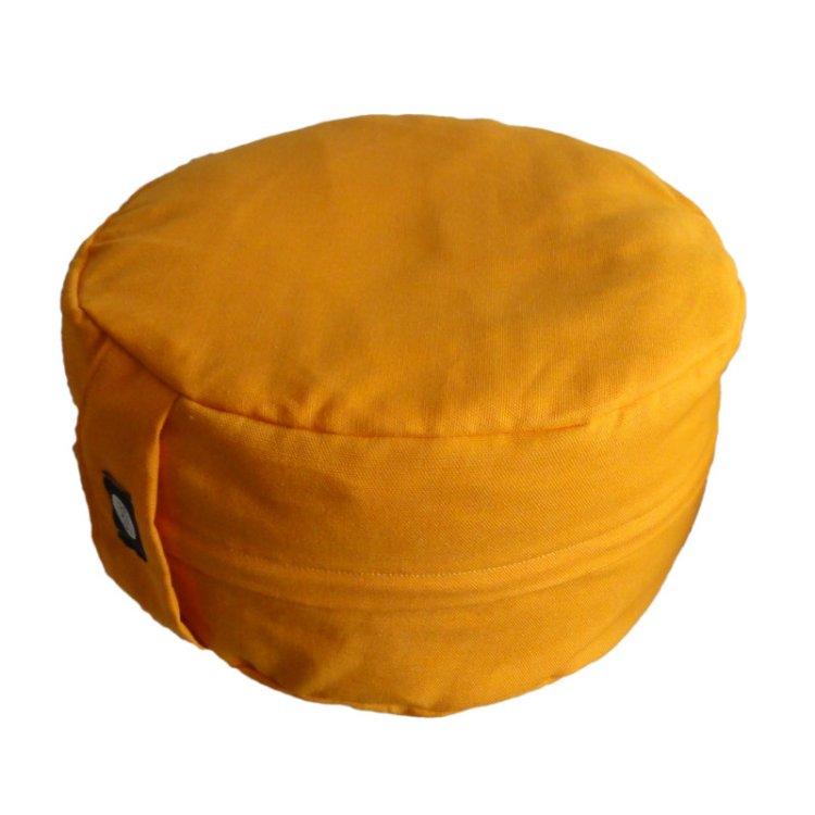 Meditatiekussen afneembare hoes met rits, oranjegeel