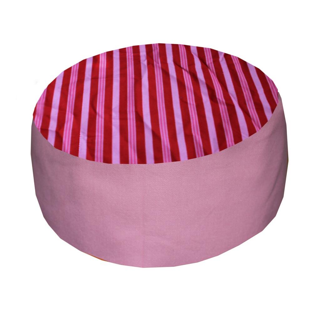Rood-roze streep met roze zijkant