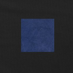Blauw op zwart