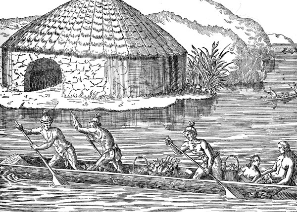 Tribe Houses Villages Tequesta Indian And