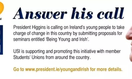 USI supports President's 'Being Young and Irish' initiative