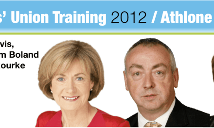 Mary Davis, Mary O'Rourke and HEA Chief Tom Boland to address student leaders at training conference in Athlone IT