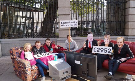 """USI and We're Not Leaving Ask:  """"Social Welfare Bill: Which Side Are You On Senators?"""""""