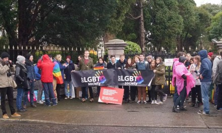 Students Demonstrate at Russian Embassy – Protect LGBTQ Rights.