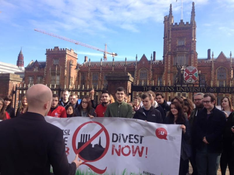 The Union of Students in Ireland Praises QUBSU's Fossil Free Protest and Urges other Colleges to Do the Same
