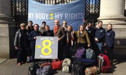 USI joins Amnesty International outside the Dáil to call on the Government to Repeal the 8th