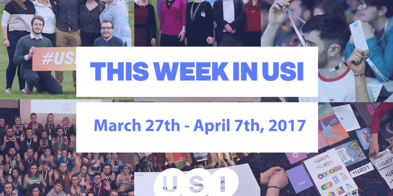 This Week in USI March 27th – April 7th, 2017