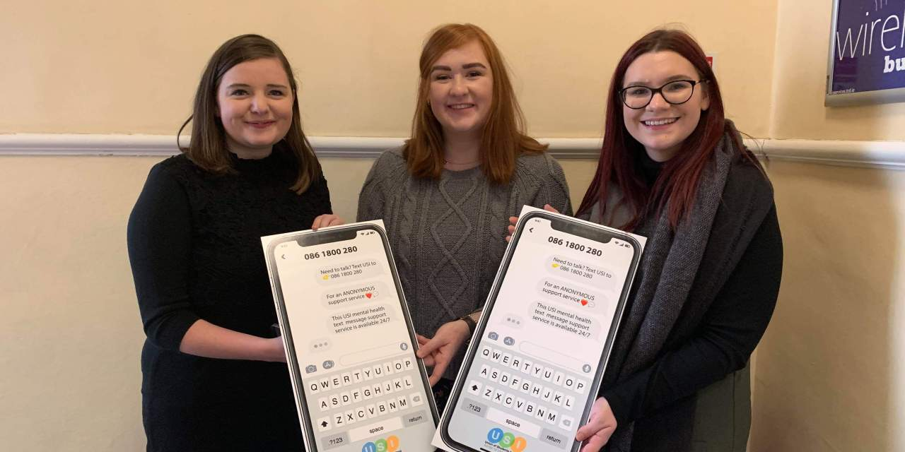 The Union of Students in Ireland Launch Mental Health Text Line