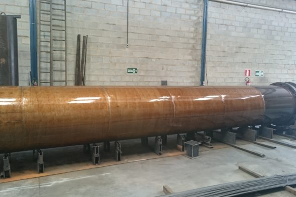 Serviço de Reforma de 7.500mm de comprimento do tubo da retorta do forno rotativo