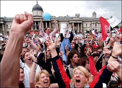 2012 Olympic celebrations in Trafalgar Square
