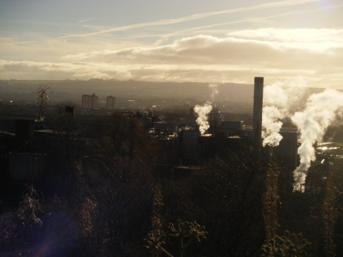 Looking over Glasgow.