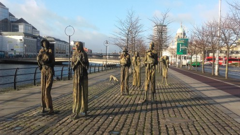 The famine memorial.