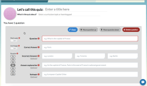 quizalize creating quiz
