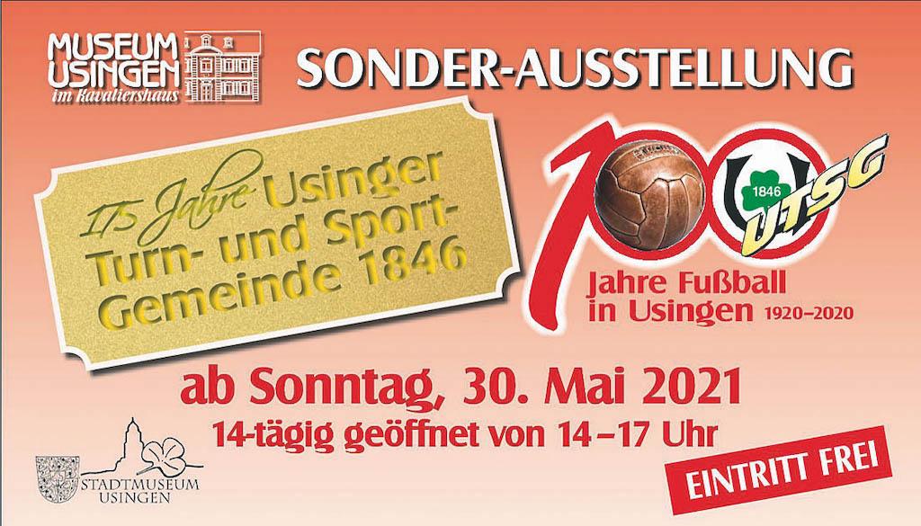 Sonderausstellung 175 Jahre Usinger TSG & 100 Jahre Fussball in Usingen