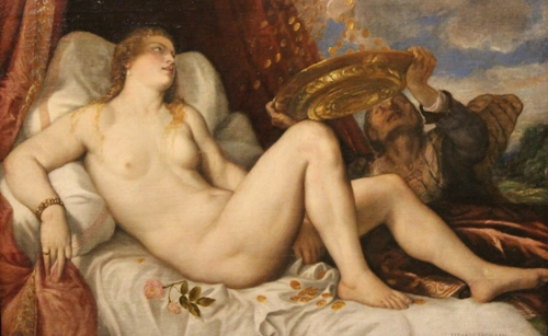 One of the five paintings of  Danaë by Titian [1564]