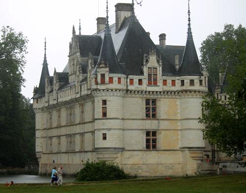 Castle in the rain