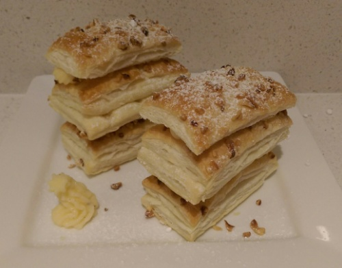 Millefeuille aux pommes - first attempt