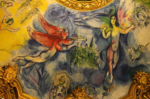 Part of the Chagall ceiling