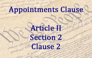 Appointments Clause US Constitution