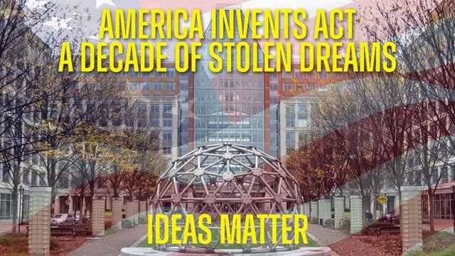 Decade of Stolen Dreams - AIA USPTO Flag Ideas