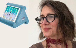 Juliette Fassett - inventor Flippy tablet pillow