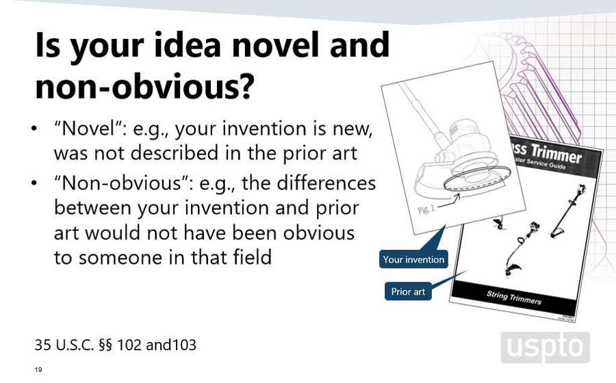 USPTO Novel and Non-obvious - Expanding the Innovation Ecosphere - Small Inventor