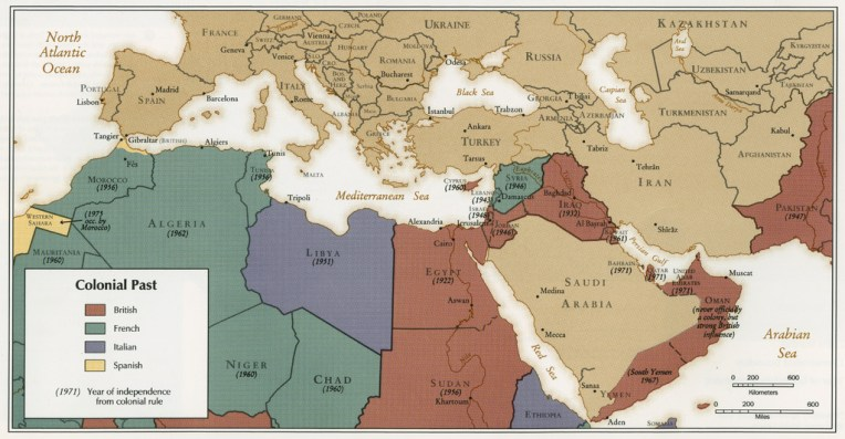 Middle East Maps   Fundamentalism Colonialism in the Middle East