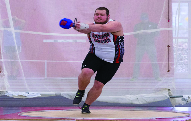Senior+thrower+Jalen+Madison+competes+in+the+hammer+throw+at+a+meet+during+the+2016+season.+Madison+currently+holds+the+record+for+the+third+farthest+hammer+throw+in+university+history.+His+throw+was+144+feet+and+five+inches.+