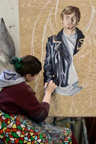 Featured artist inspires students