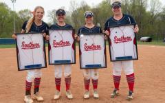 Softball senior day wins double header