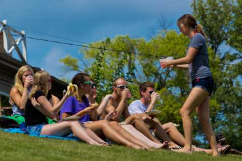 Students enjoy their Labor Day at Kramer's Lake