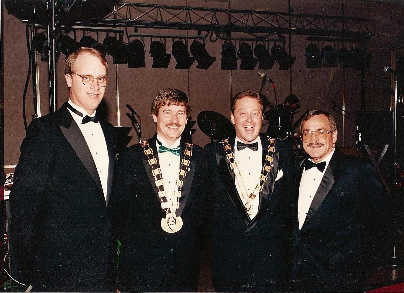National Advisor Madsen, USJCC President Russell, JCI President Dawkins, JCI Advisor Pridgen